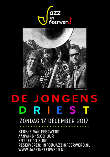 jazz in feerwerd jongens driest poster